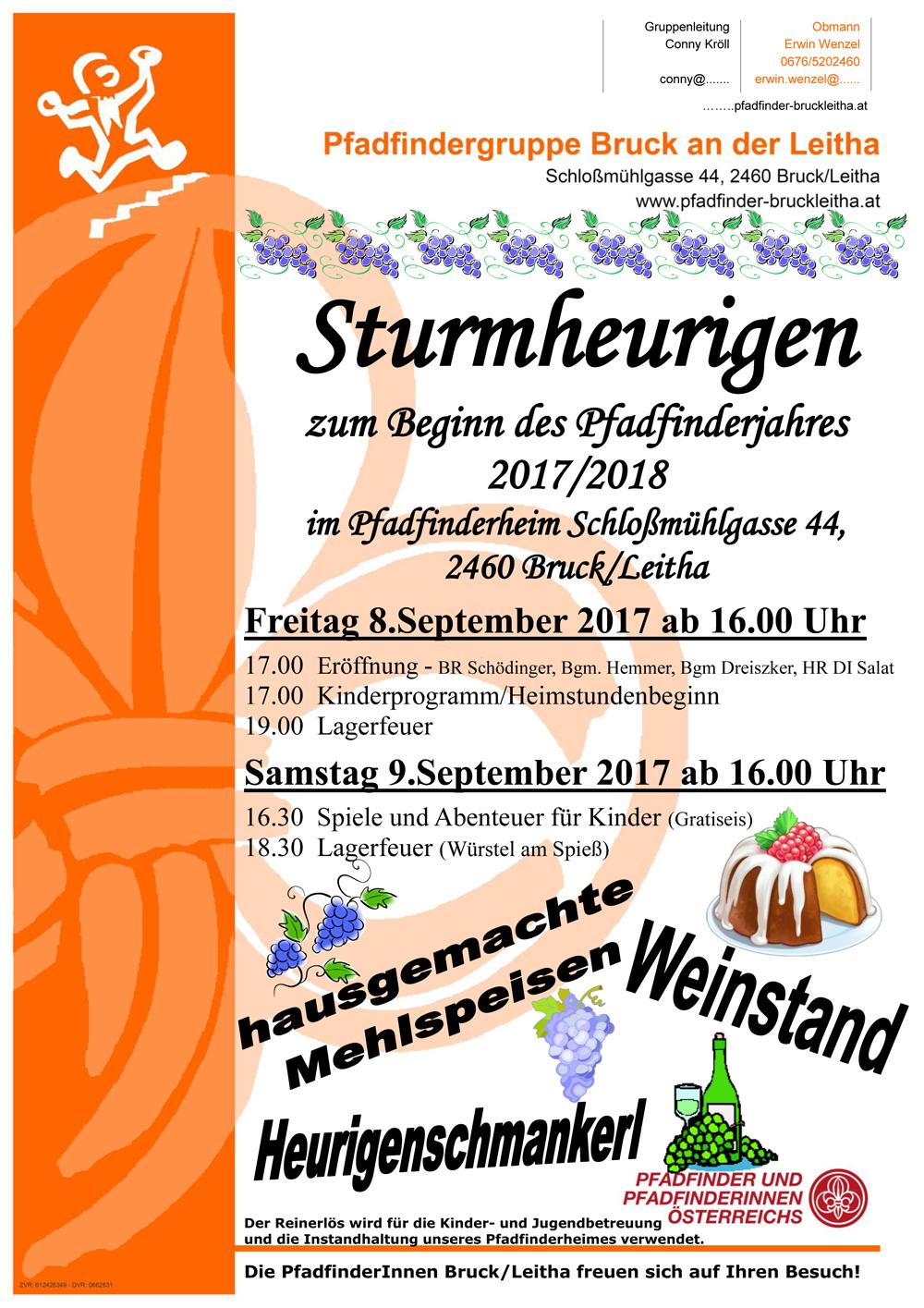 Sturmheurigen der Pfadfindergruppe - 8.9.-9.9.2017