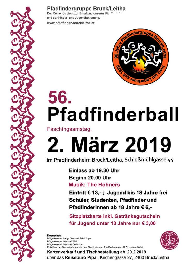 Pfadfinderball 2019 am 2. März, Pfadfindergruppe Bruck/Leitha